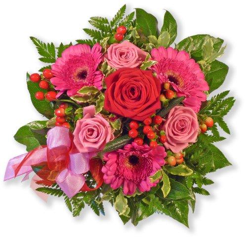 Blumenstrauß Blumenversand Herzensgrüße +Gratis Grußkarte+Wunschtermin+Frischhaltemittel+Geschenkverpackung