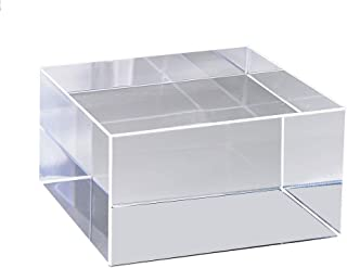 Mirart Clear Acrylic Cube (3