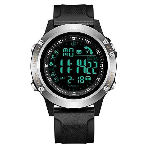 TEZER Digital Sportuhr,wasserdichte Herren Uhr Bluetooth Smartwatch Intelligente Uhr, Outdoor Aktivitätstracker mit LED Licht,Remote-Kamera,Schrittzähler,Fitness Tracker,Stoppuhr für IOS Android