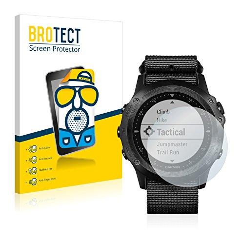 BROTECT 2X Entspiegelungs-Schutzfolie kompatibel mit Garmin Tactix Bravo Bildschirmschutz-Folie Matt, Anti-Reflex, Anti-Fingerprint