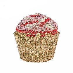 #4 Cupcake Crystal Minaudiere Clutch Purse