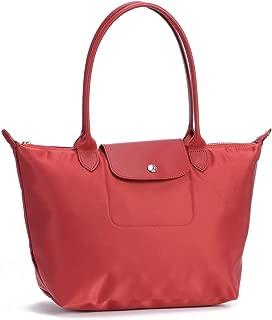LongChamp Women's Le Pliage Red Club Neo Shoulder Tote Medium