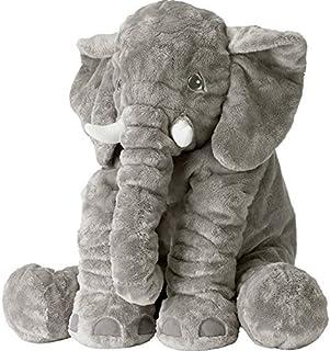 tecmac New Nose Elephant Plush Toys Stuffed Animal Toys Soft Toys Nursery Rooms Decorations Baby Kids Toys (Gray)