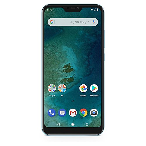 Xiaomi Mi A2 Lite 64GB + 4GB RAM, Dual Camera, LTE AndroidOne Smartphone - International Global Version (Blue)