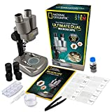 National Geographic Dual LED Student Microscope - 50+ pc Science Kit Includes Set