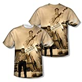 Elvis Presley King of Rock 1950 - Camiseta de manga corta para adulto (2 caras) -  Blanco -  XX-Large