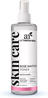 ArtNaturals Rosewater Witch Hazel Toner - (8 Fl Oz / 236ml) - Anti Aging Pore Minimizer for Facial Acne - Aloe Vera, Rose ...
