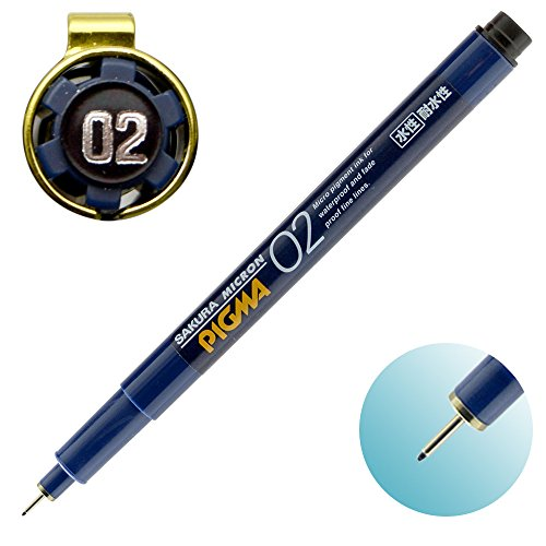 Sakura Pigment Ink Pen, Pigma Micron 02, Black (ESDK02#49) Photo #4