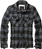 Brandit Check Shirt Camisa, Gris-Negro, L para Mujer