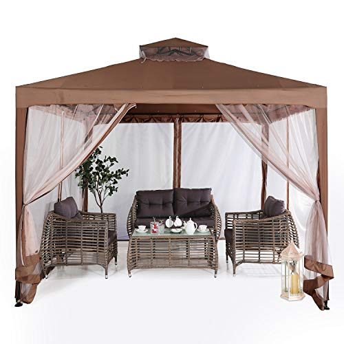 ABCCANOPY 10'x10' Pop up Gazebo Tent with Mosquito Netting Outdoor...