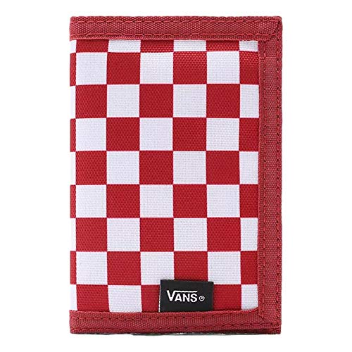 Vans Accesorio de Viaje- Billetera Plegable Triple, One Size, Chili Pepper Checkerboard