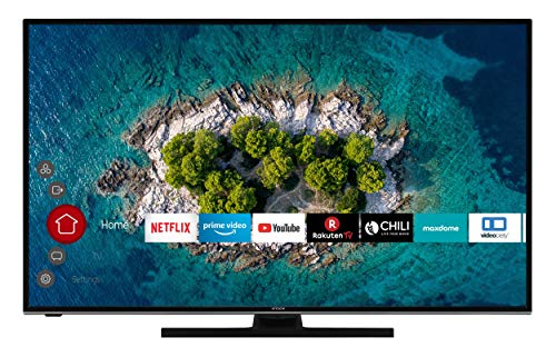 Hitachi U50K6100 - TV da 50 pollici (Smart TV con Prime Video/Netflix/YouTube, 4K UHD con Dolby Vision HDR/HDR 10 + HLG, Bluetooth, Works with Alexa, PVR-Ready, Triple Tuner)