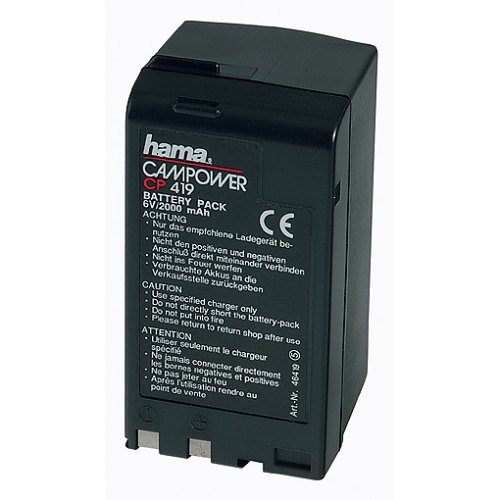Hama CP 419 Níquel Cadmio 2000mAh 6V batería Recargable - Batería/Pila Recargable (2000 mAh, Níquel-cadmio (NiCd), 6 V, Negro, 1 Pieza(s))