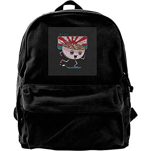 DJNGN Canvas Backpack Tokyo Skater Ramen Daypack School Bookbag Canvas Backpack Durable Casual Print Travel Student Universal Pr