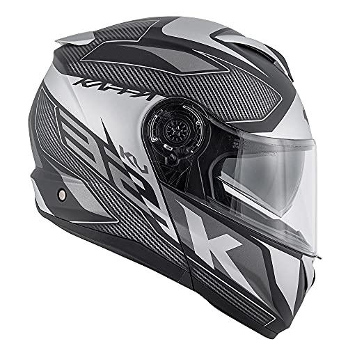 Modularer Motorradhelm P/J Kappa KV32 Orlando Mixer Schwarz Titan Größe L