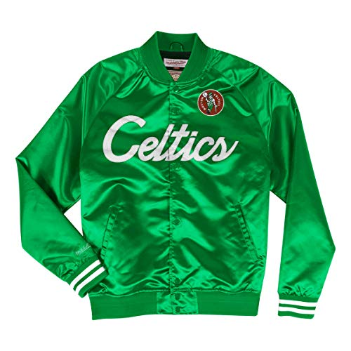 Mitchell & Ness NBA Special Script Lightweight Satin College Boston Celtics Green (Grün, L)