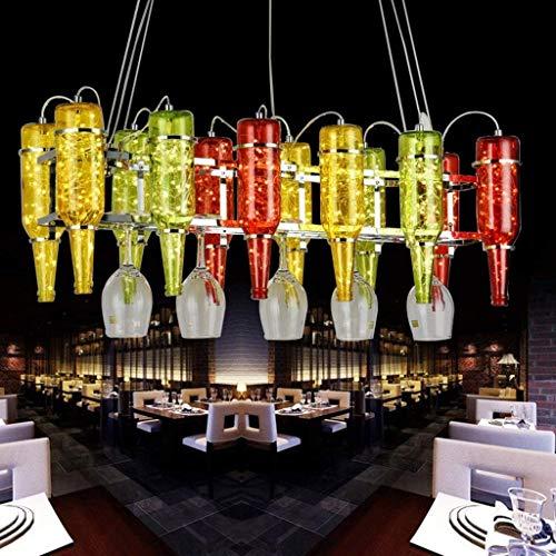 YSH Araña/Luces de Techo/Lámpara, Botella de Cerveza Lustre Creativo, Bar Ktv Botella de Vino Color Hierro Decoración Araña 50 * 50 Cm, Altura Ajustable Moda,50 * 50 cm * 120 cm