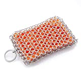 B&L The Original Cast Iron Scrubber & Cleaner Chainmail Scrubber with Silicone Insert Life Time Warranty