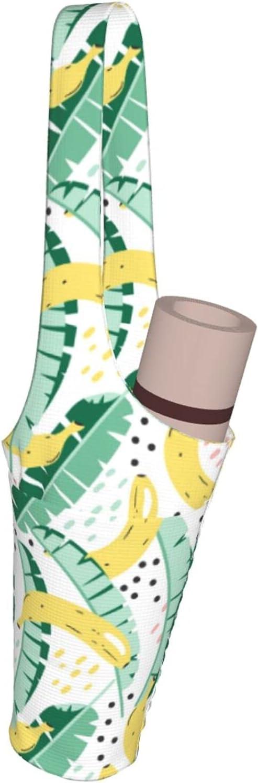 Jeezhub Banana and Leaf Yoga Mat Some reservation with Pockets Fashion Large Bag Tulsa Mall