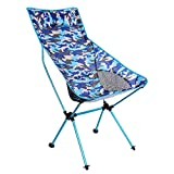 OUY Silla De Camping Presidente de Picnic Pequeña Silla Silla Plegable portátil Robusto de Picnic Camuflaje Camping (Color : Blue Camouflage)