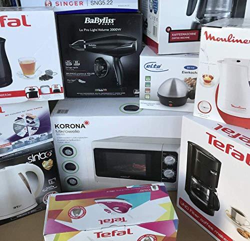Erste Wohnung/Studenten WG Markenelektronik Set Wasserkocher, Mikrowelle, Bügeleisen, Fön & wahlweise eine Filterkaffeemaschine *NEU* (OHNE Filterkaffeemaschine)