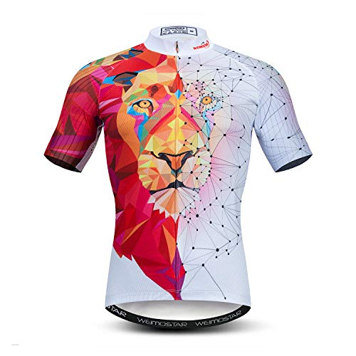 JPOJPO Men's Cycling Jersey Mens Bike Clothing Lycra Short Sleeve Pro MTB 3D Bicycle Shirts Tops Quick Dry,Pockets,Breathable, Cd8542, XL for Chest40.2-42.5