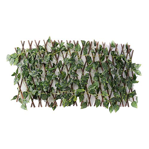 40cm Expanding Trellis Fence Fence Artificial Garden Plant Fence Privacy Screen for Outdoor Indoor Use Garden Fence Backyard Home Decor Greenery Walls