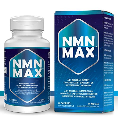 NMN Capsules with Maximum Strength- 500mg Capsule - High Absorption Nicotinamide Mononucleotide Supplement- Supports Brain Function & Anti Aging (60 Count(Pack of 1))