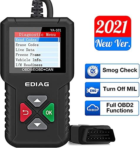 EDIAG YA101 Scanner per Auto OBD2, Strumento Diagnostico del Sistema Motore, Lettore di Codici di guasto, Funzione 10 Modelli, sensore O2, Test EVAP, Test Monitor di Bordo Modo 6, Ricerca DTC