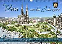 Wien um das Jahr 1900 - Fotos neu restauriert und koloriertAT-Version (Wandkalender 2022 DIN A3 quer): Die schoene Stadt Wien um das Jahr 1900 zur Kaiserzeit in Farbe erwacht in lebendigen Farben zu neuem Leben. (Monatskalender, 14 Seiten )