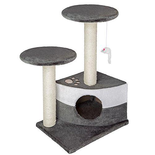 TecTake Tiragraffi per gatti gatto gioco palestra sisal nuovo altezza media - disponibile in diversi colori - (Grigio | no. 400484)