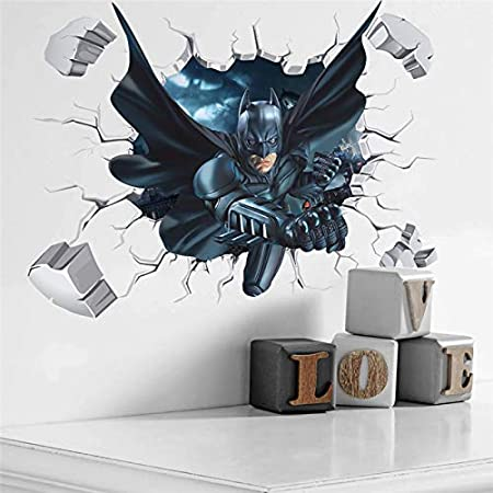 Joker Face Batman Wall Sticker Dark Knight Vinyl Decal Superhero Art Marvel Comics Decorations for Home Bedroom Teen Kids Room Decor bat14