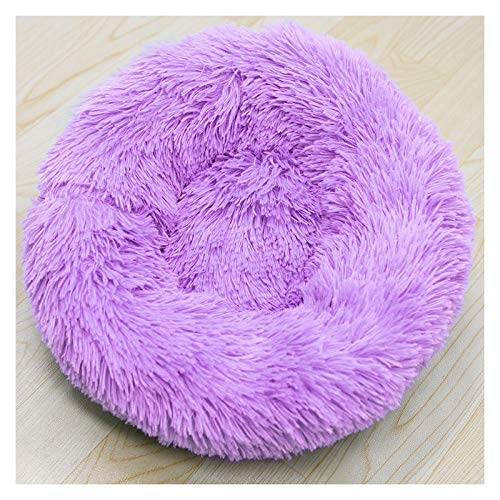 Cama para Perros de Felpa Suave y cálida Cama para Perros Cama para Dormir mullida sofá para Mascotas Perros pequeños y medianos de Varios tamaños -紫色_40*16cm