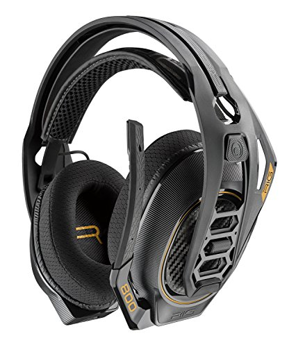 Plantronics - Rig 800HD Wireless Dolby Atmos Gaming Headset For PC - Black