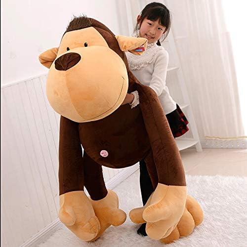 Feimeifen Peluche Jouet Orang-outan Poupée Poupée Male Et Cadeau d'anniversaire De Cadeau Femelle 90 cm Orang-outan