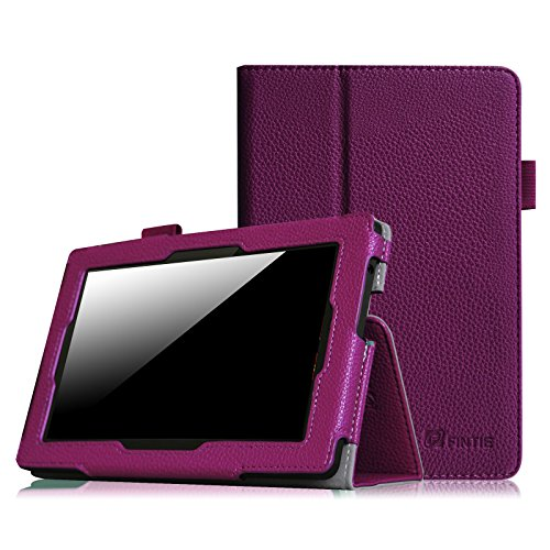 """Fintie Folio Case for Kindle Fire HD 7"""" (2013 Old Model) - Slim Fit Folio Case with Auto Sleep/Wake Feature (Will only fit Amazon Kindle Fire HD 7, Previous Generation - 3rd), Purple"""