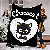 Valentine Chococat Sweet Valentines Day Gifts Blanket - Fleece Blanket Sherpa Blanket, Minky Blankets Throws Ultra Soft Decorative Room for Kids Adult