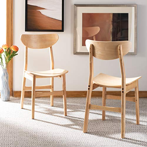 Safavieh Home Lucca Retro Natural Dining Chair, Set of 2