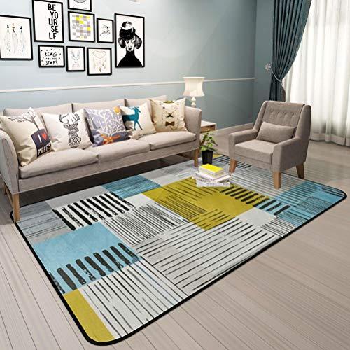 QUD zwart en wit blauw roze wit meisje slaapkamer tapijt Perzische kunst tapijt zachte slaapkamer tapijt harige huis tapijt stijlvol geometrisch gestreept tapijt 20/1/26