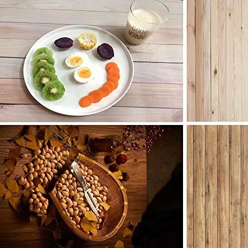 Fondo de madera vintage 2 en 1 fotografía de fondo de madera para alimentos, pasteles y productos pequeños, diseño de doble cara, DP29 40 x 88 cm