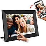 FRAMEO Digital Picture Frame WiFi 10 inch with IPS HD Touch Screen, Auto-Rotate, 16GB Storage, Smart Cloud Photo Frame Easy Setup to Share Photos or Videos via Free App at Anytime and Anywhere