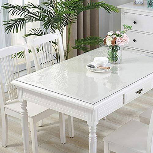 Mantel de Vidrio Suave 1mmPVC Mantel Transparente Impermeable y a Prueba de Polvo Estera de Mesa Rectangular Cocina a Prueba de Aceite tapete de mesa-50x120cm