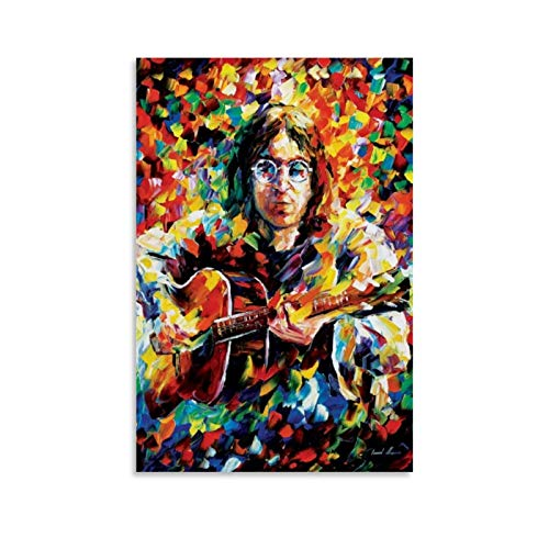 xiaochouyu People Celebridades Músicos John Lennon - John Lennon por Leonid Afremov - Póster de Leonid Afremov (50 x 75 cm)