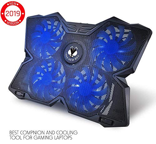 Tree New Bee High Performance Gaming Laptop Cooling Pad for 15.6 - 17-Inch Laptops with (4 Fans) Four 120mm Fans at 1200 RPM, Black