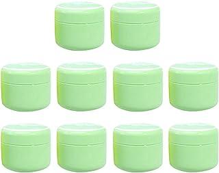B Blesiya 全15色 空のクリーム容器 空のボトル クリームボトル 化粧品容器 - グリーン50g