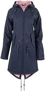 Women's Solid Rain Jacket Outdoor Hoodie Waterproof Overcoat Windproof Long Coat