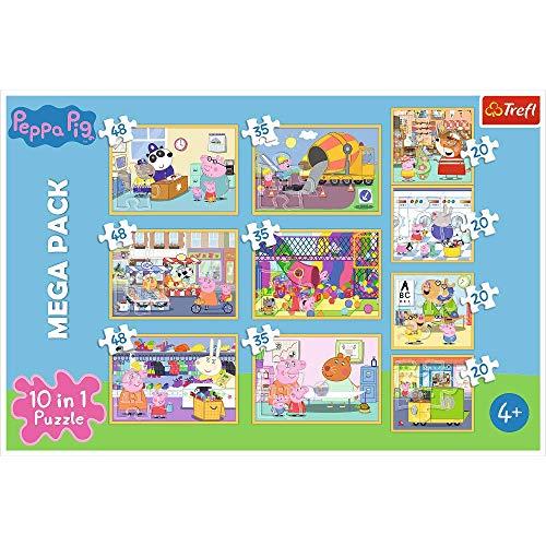 Puzzle Peppa Pig con Amigos de 20 a 48 Piezas, 10 Juegos de Peppa Pig para niños a Partir de 4 años