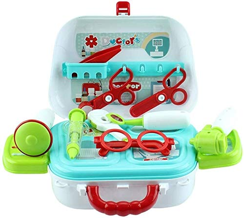 Kinder Pretend Play Doctor Umhängetasche Simulation Schere Koffer Kinder Kunststoff-Spielzeug-Set
