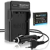 Blumax Ladegerät + Akku für Sony NP-BG1 NP-FG1 kompatibel mit Sony CyberShot DSC HX20V HX10V HX9V HX7V HX5V H90 H70 H55 WX10 WX1 lader akku Haus kfz USB lader akku Haus kfz USB