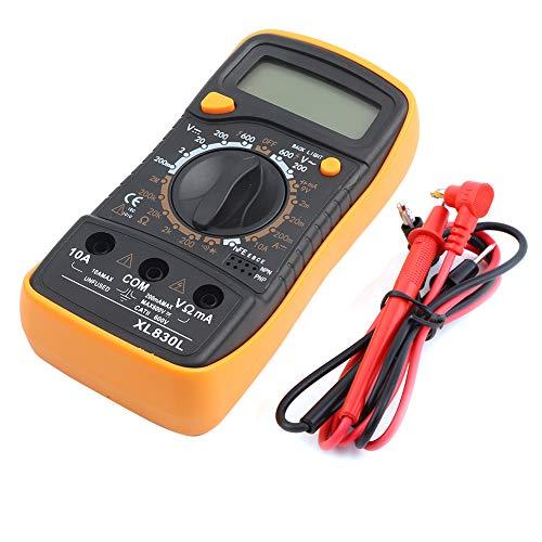 Amperometro Voltmetro Diodo Transistor Continuità udibile Ohmmetro Gamma automatica Volt Ohm Meter Multimetro Elettricista domestico Strumenti di misurazione con LCD retroilluminato